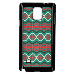 Ethnic Geometric Pattern Samsung Galaxy Note 4 Case (black) by linceazul