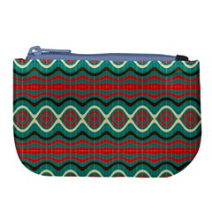 Ethnic Geometric Pattern Large Coin Purse by linceazul