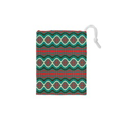 Ethnic Geometric Pattern Drawstring Pouches (xs)  by linceazul