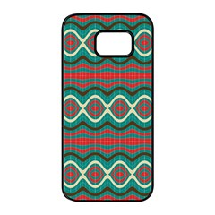 Ethnic Geometric Pattern Samsung Galaxy S7 Edge Black Seamless Case by linceazul