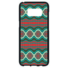 Ethnic Geometric Pattern Samsung Galaxy S8 Black Seamless Case by linceazul