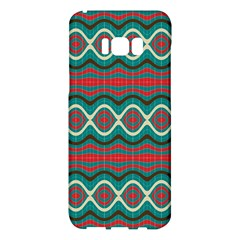 Ethnic Geometric Pattern Samsung Galaxy S8 Plus Hardshell Case  by linceazul