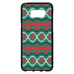 Ethnic Geometric Pattern Samsung Galaxy S8 Plus Black Seamless Case by linceazul