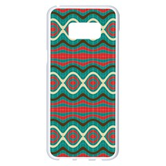 Ethnic Geometric Pattern Samsung Galaxy S8 Plus White Seamless Case by linceazul