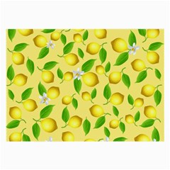 Lemon Pattern Large Glasses Cloth by Valentinaart