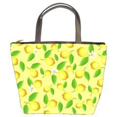 Lemon Pattern Bucket Bags by Valentinaart