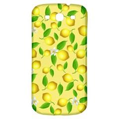Lemon Pattern Samsung Galaxy S3 S Iii Classic Hardshell Back Case by Valentinaart