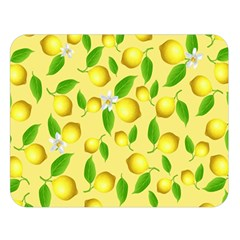 Lemon Pattern Double Sided Flano Blanket (large)  by Valentinaart