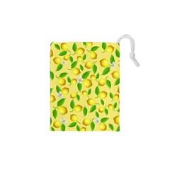 Lemon Pattern Drawstring Pouches (xs)  by Valentinaart