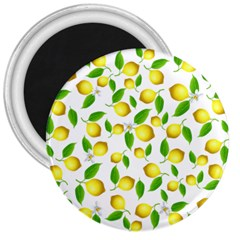 Lemon Pattern 3  Magnets by Valentinaart