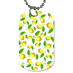 Lemon Pattern Dog Tag (two Sides) by Valentinaart
