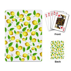 Lemon Pattern Playing Card by Valentinaart