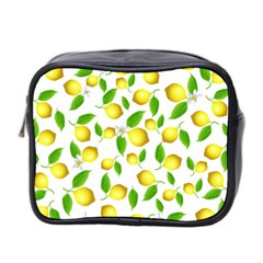 Lemon Pattern Mini Toiletries Bag 2 Side by Valentinaart