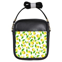 Lemon Pattern Girls Sling Bags by Valentinaart