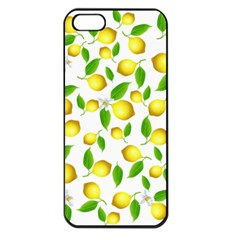 Lemon Pattern Apple Iphone 5 Seamless Case (black) by Valentinaart