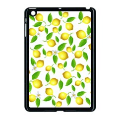 Lemon Pattern Apple Ipad Mini Case (black) by Valentinaart