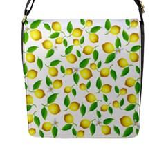 Lemon Pattern Flap Messenger Bag (l)  by Valentinaart