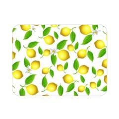 Lemon Pattern Double Sided Flano Blanket (mini)  by Valentinaart