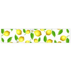 Lemon Pattern Flano Scarf (small) by Valentinaart