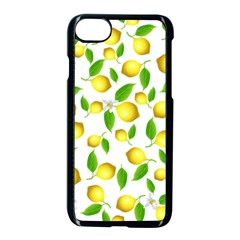 Lemon Pattern Apple Iphone 7 Seamless Case (black) by Valentinaart