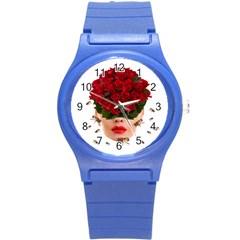 Beautiful Life Round Plastic Sport Watch (s) by Valentinaart