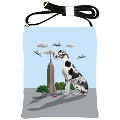 Great Dane Shoulder Sling Bags by Valentinaart