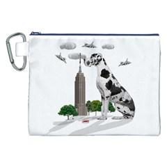 Great Dane Canvas Cosmetic Bag (xxl) by Valentinaart