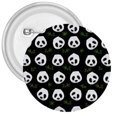 Panda Pattern 3  Buttons by Valentinaart