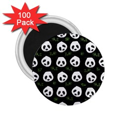 Panda Pattern 2 25  Magnets (100 Pack)  by Valentinaart