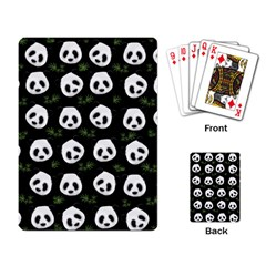 Panda Pattern Playing Card by Valentinaart