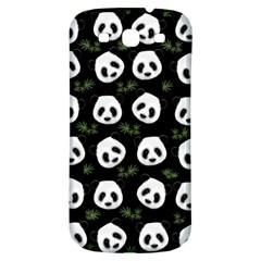Panda Pattern Samsung Galaxy S3 S Iii Classic Hardshell Back Case by Valentinaart