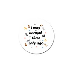 I Was Normal Three Cats Ago Golf Ball Marker (4 Pack) by Valentinaart
