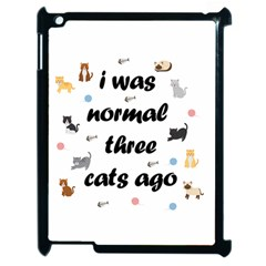 I Was Normal Three Cats Ago Apple Ipad 2 Case (black) by Valentinaart