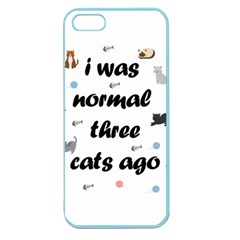 I Was Normal Three Cats Ago Apple Seamless Iphone 5 Case (color) by Valentinaart
