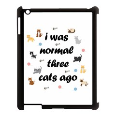 I Was Normal Three Cats Ago Apple Ipad 3/4 Case (black) by Valentinaart