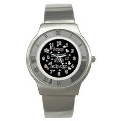 I Was Normal Three Cats Ago Stainless Steel Watch