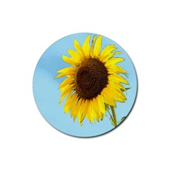 Sunflower Rubber Coaster (round)  by Valentinaart