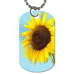 Sunflower Dog Tag (two Sides) by Valentinaart