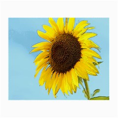 Sunflower Small Glasses Cloth by Valentinaart