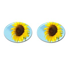 Sunflower Cufflinks (oval) by Valentinaart