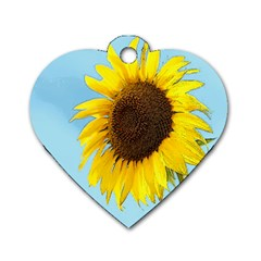 Sunflower Dog Tag Heart (one Side) by Valentinaart