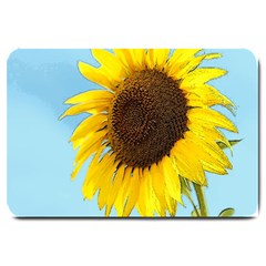 Sunflower Large Doormat  by Valentinaart
