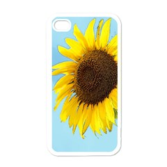 Sunflower Apple Iphone 4 Case (white) by Valentinaart