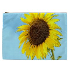 Sunflower Cosmetic Bag (xxl)  by Valentinaart