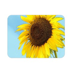 Sunflower Double Sided Flano Blanket (mini)  by Valentinaart