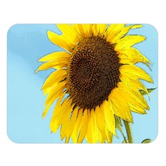 Sunflower Double Sided Flano Blanket (large)  by Valentinaart