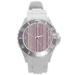 Lines Round Plastic Sport Watch (l) by Valentinaart
