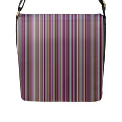 Lines Flap Messenger Bag (l)  by Valentinaart