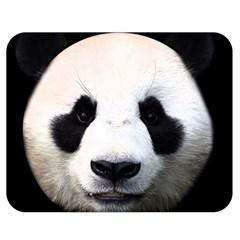 Panda Face Double Sided Flano Blanket (medium)  by Valentinaart