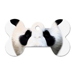 Panda Face Dog Tag Bone (one Side) by Valentinaart